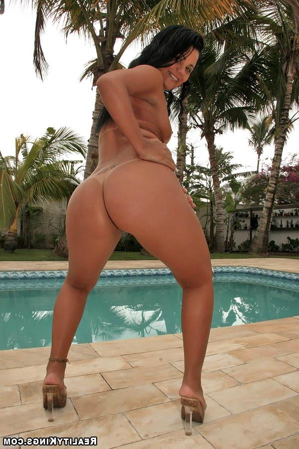 Latin babe with a cool ass fucks near the pool 12 photo
