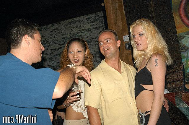 Curly tanned babe have sex in the VIP bar 2 photo