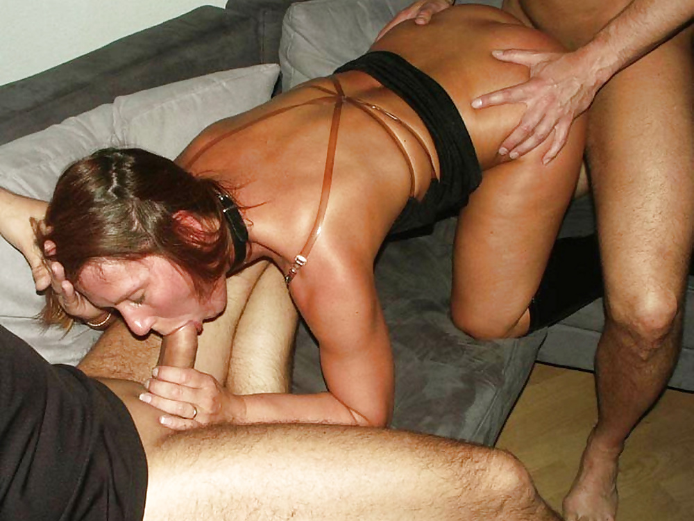 Two men fuck excited woman at her home 7 photo