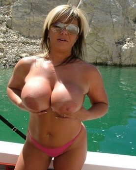 Lustful mature bitches demonstrating their huge boobs
