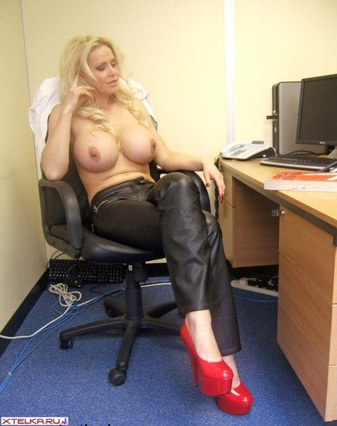 New secretary - dazzling blonde with massive boobs 2 photo