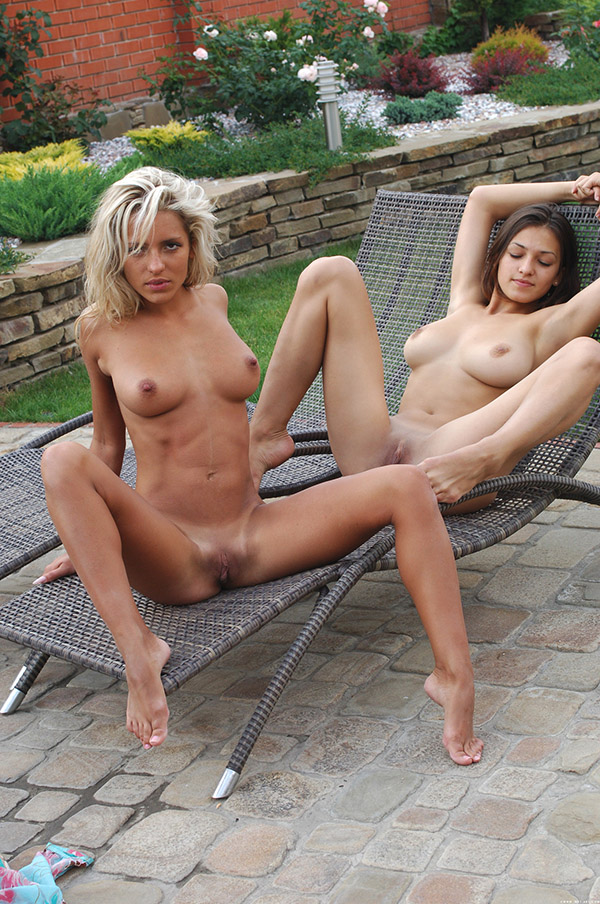 Longtime girlfriends with hot bodies naked in the pool 16 photo