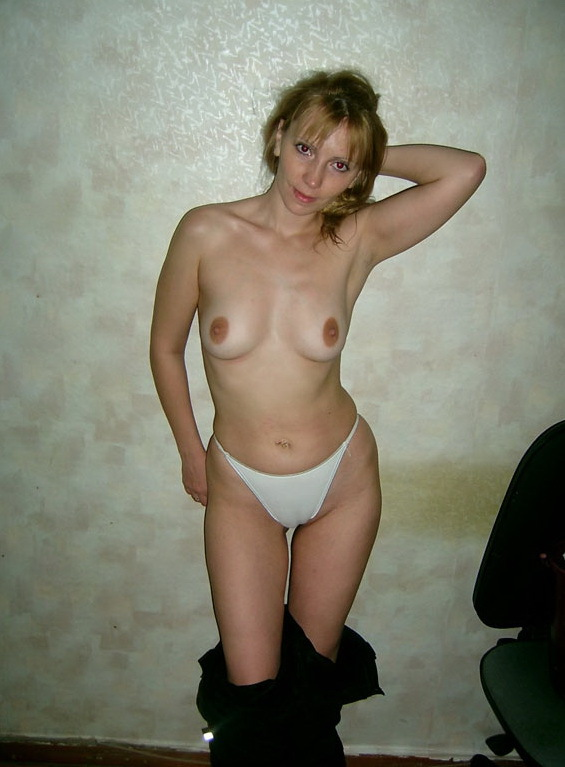 Russian mom stripped by the wall 2 photo