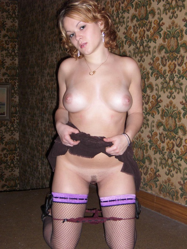 Cute full girl posing in seductive lingerie 3 photo