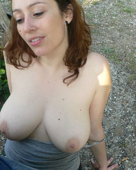 Busty slag likes cum on her body
