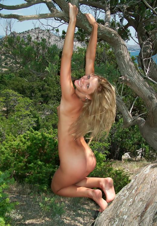 Wild blonde with beautiful elastic ass outdoors 2 photo