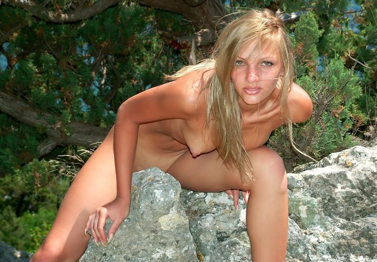 Wild blonde with beautiful elastic ass outdoors 11 photo
