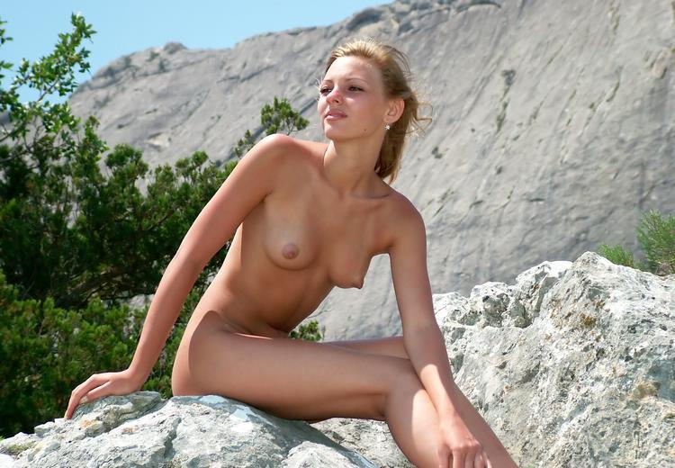 Wild blonde with beautiful elastic ass outdoors 13 photo