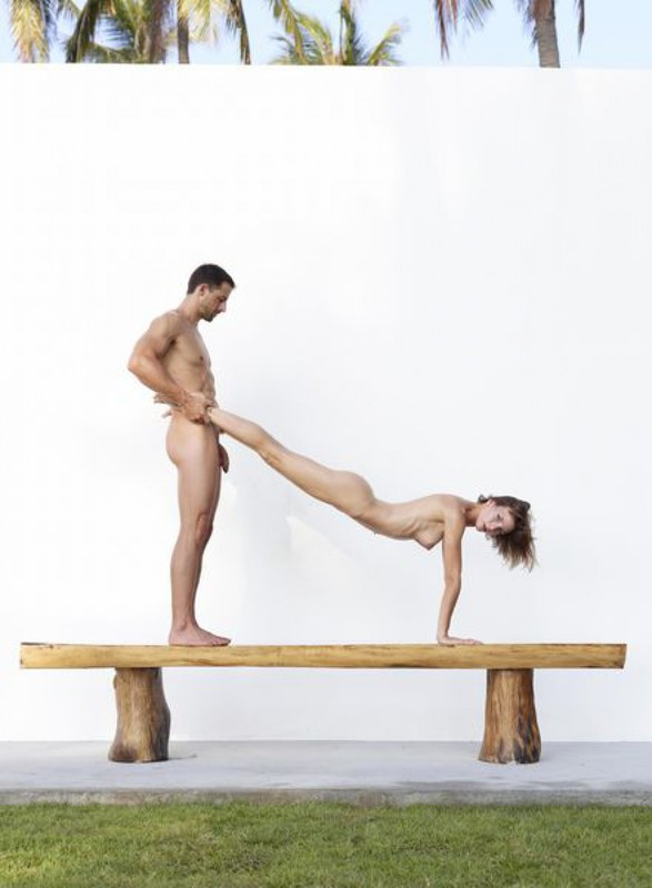 Flora and Alex - Athletes in sexual poses 22 photo