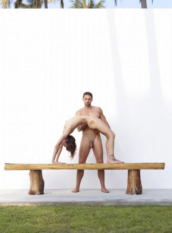 Flora and Alex - Athletes in sexual poses 17 photo