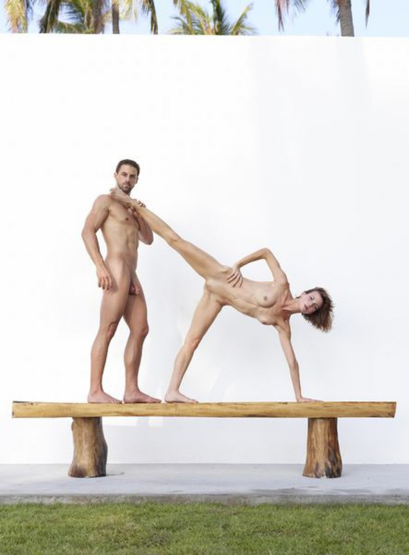 Flora and Alex - Athletes in sexual poses 21 photo