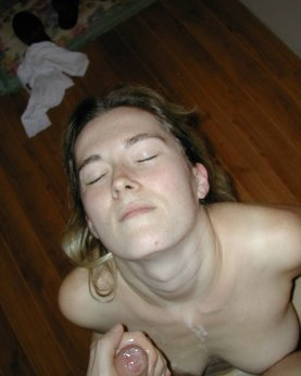 Guy brought a whore to the house and cum on her face