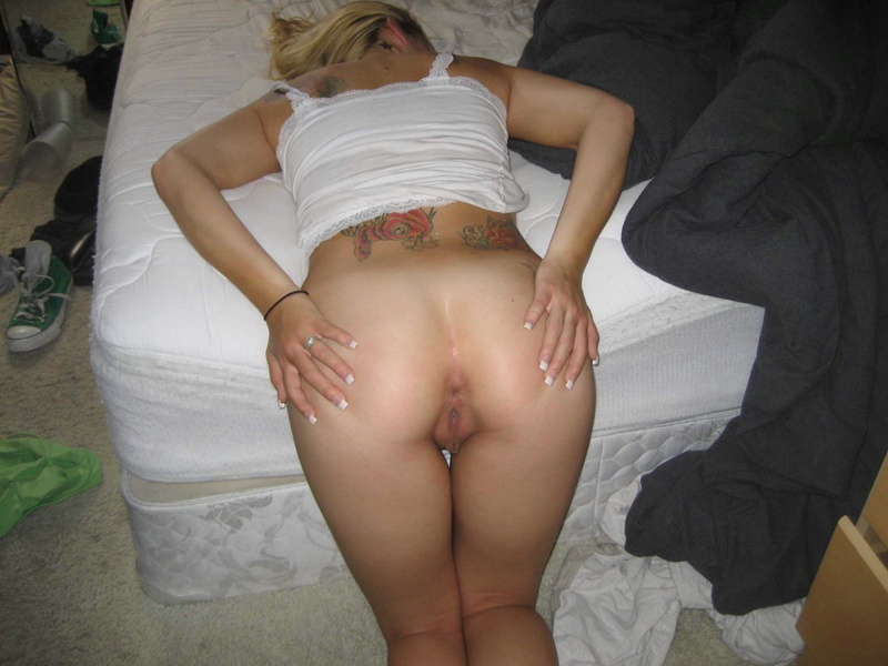 Black & white erotic performed by hot college slut 15 photo