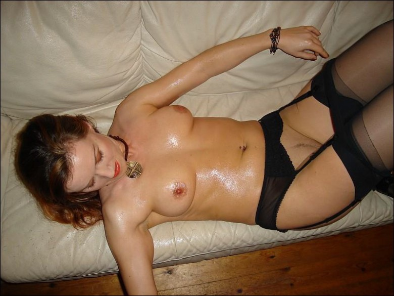 Shiny mom in sexy black lingerie and stockings 13 photo