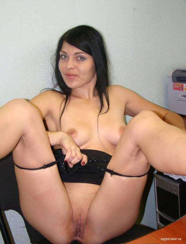 Wife posing naked and spreads legs 4 photo